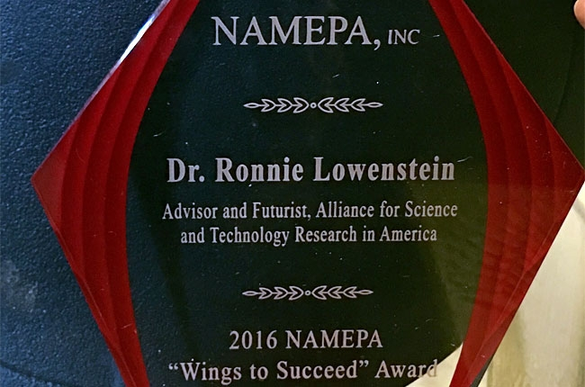 NAMEPA 2016 Wings to Succeed Award.